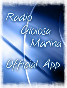 Immagine iniziale della app ufficiale di Radio Gioiosa Marina per smartphone e tablet ios e android