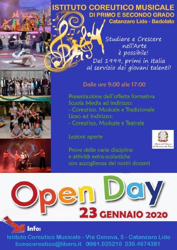 open day Liceo Coreutico Musicale di Catanzaro Lido – Badolato