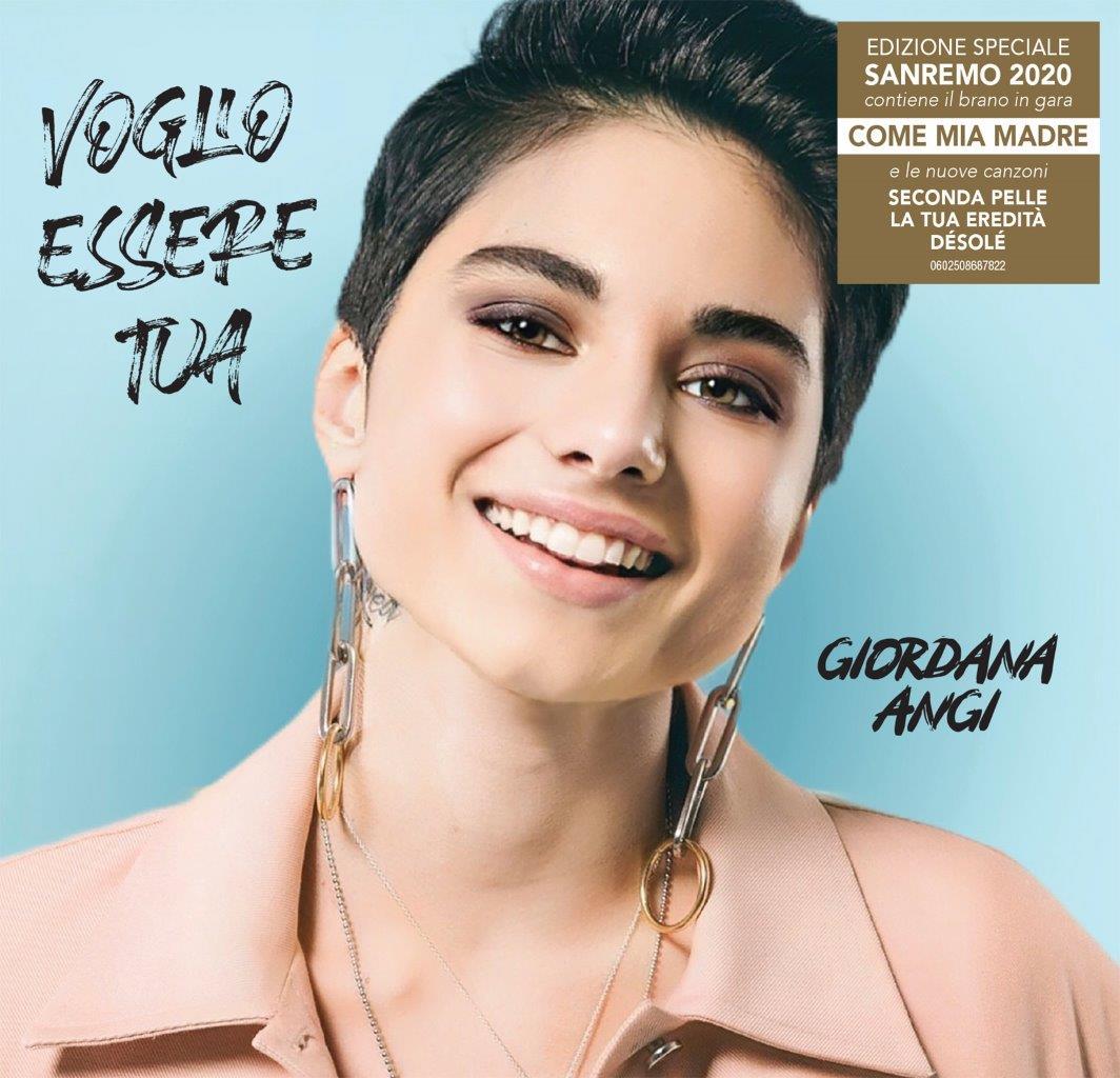copertina per articolo di radio gioiosa marina su Giordana Angi Voglio Essere Tua Sanremo Edition b